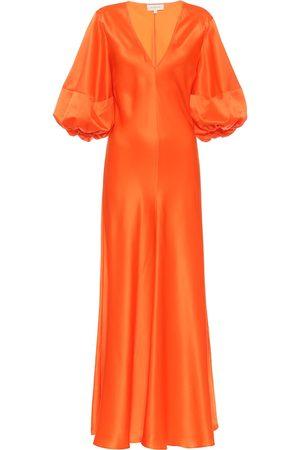 Lee Mathews Exclusive to Mytheresa – Silk-satin midi dress