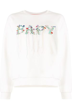 BAPY Floral embroidered logo sweatshirt