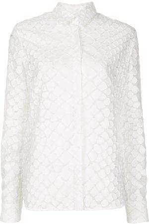 ALEX PERRY Ashton textured long sleeve shirt