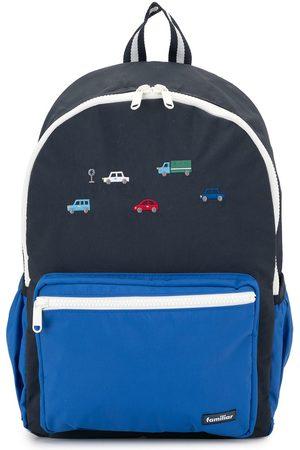 Familiar Boys Rucksacks - Embroidered cars backpack