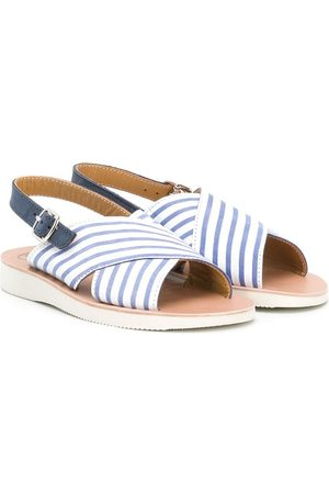 PèPè Striped buckled sandals