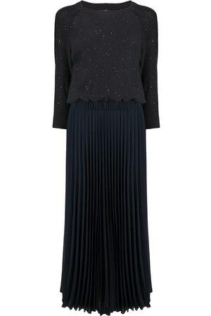 PESERICO SIGN Cold shoulder maxi dress