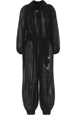 Lisa Marie Fernandez Women Jumpsuits - Poet linen-blend jumpsuit