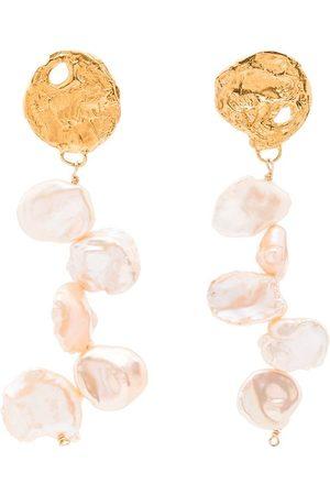 Alighieri La Jetee 24kt -plated pearl earrings