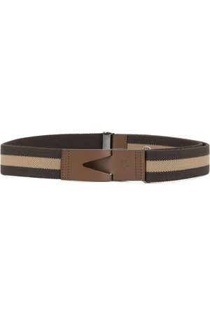 Tod's Greca striped belt