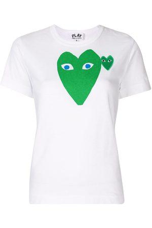 Comme des Garçons Logo heart print slim fit T-shirt
