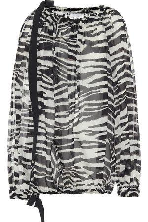 DRIES VAN NOTEN Zebra-printed cotton blouse