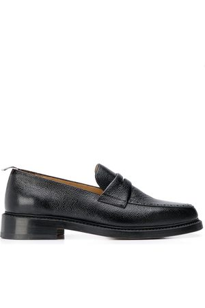 Thom Browne Pebble-grain penny loafers