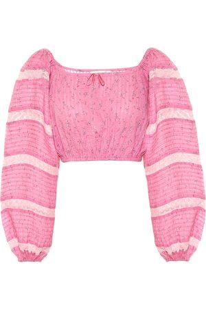 LOVESHACKFANCY Exclusive to Mytheresa – Albertina floral cotton top