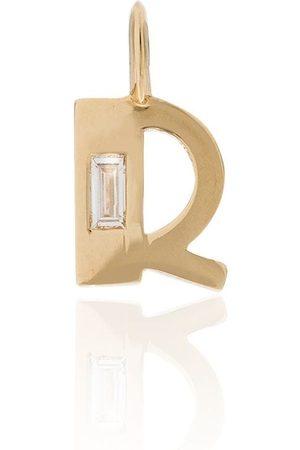 Lizzie Mandler 18kt R initial diamond charm