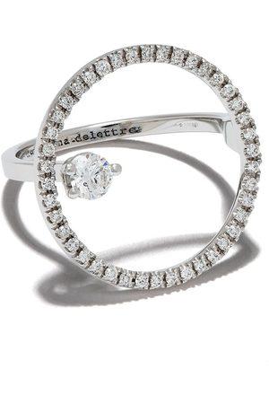 DELFINA DELETTREZ 18kt white gold Bubble diamond ring