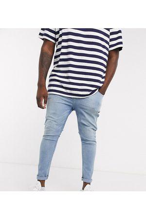 ASOS Men Jeans - Plus spray on jeans in power stretch denim in light wash
