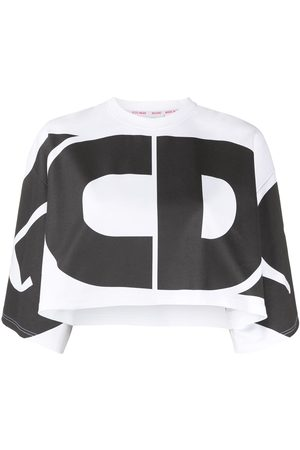 GCDS Logo-print cropped top
