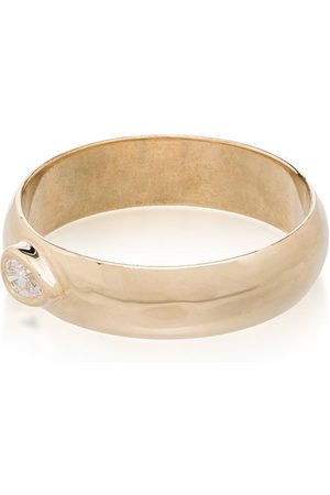 Zoe Chicco 14kt gold pear-cut diamond band ring