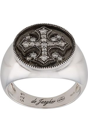 DE JAEGHER Crystal cross ring
