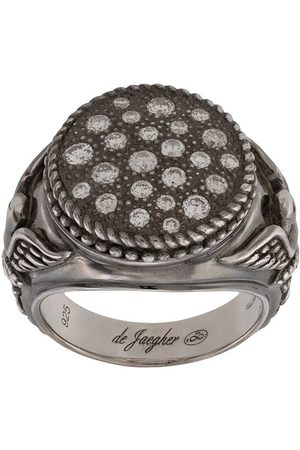 DE JAEGHER Birds detailed signet ring