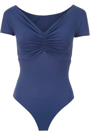 AMIR SLAMA Swimsuit with gathered details