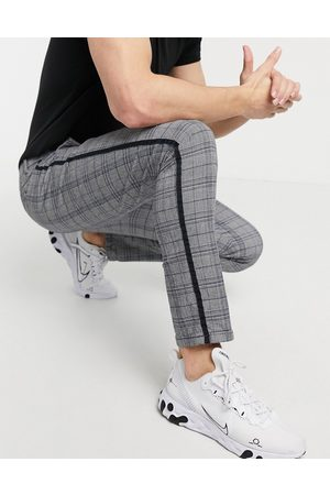 River Island Skinny smart trousers in & blue check