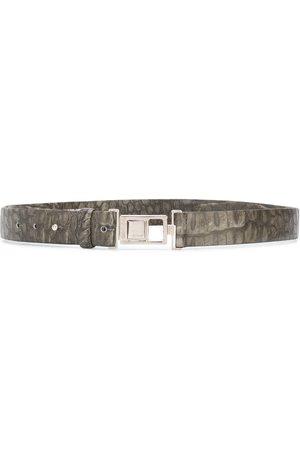 Gianfranco Ferré Textured logo buckle belt