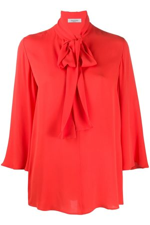VALENTINO Pussybow flared sleeves blouse