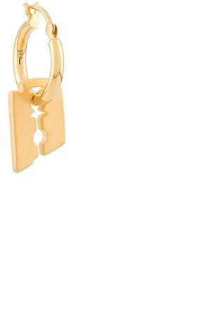 NORTHSKULL Razor Blade single hoop earring