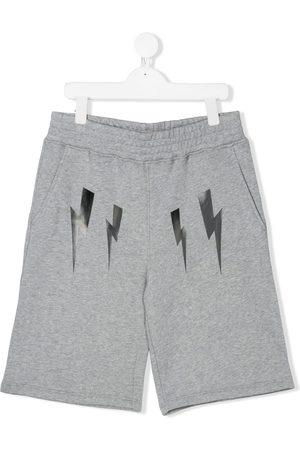 Neil Barrett Boys Shorts - TEEN thunderbolt track shorts