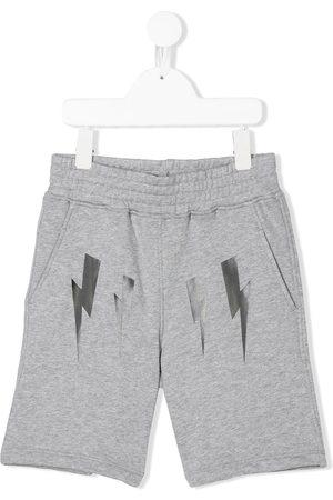 Neil Barrett Bolt print jogging shorts