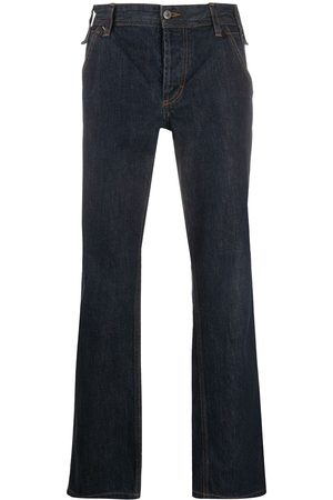 Dolce & Gabbana 2000s stitch detail straight-fit jeans