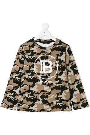 Balmain Camouflage-print logo sweatshirt