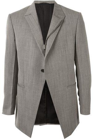 1017 ALYX 9SM Off-center zip striped blazer