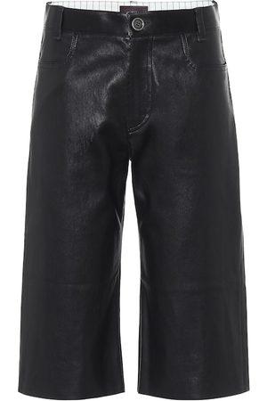 Stouls Sofiane leather Bermuda shorts