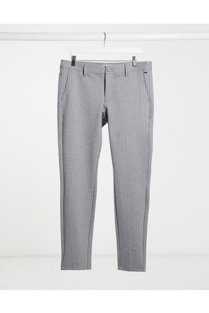 Only & Sons Stretch smart trouser in pinstripe
