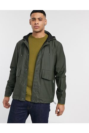 Rains Short hooded coat in