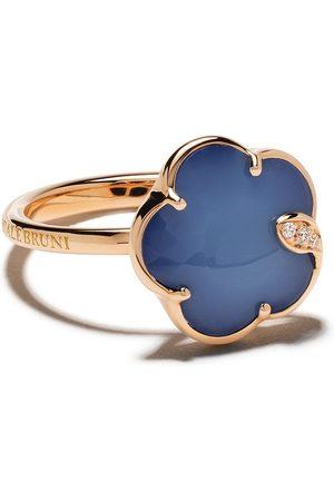 Pasquale Bruni 18kt Petit Jolie agate, lapis lazuli and diamond ring