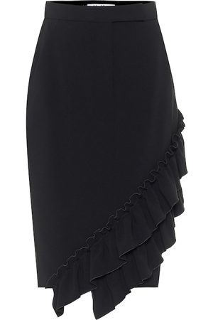 Max Mara Eles ruffled cady pencil skirt
