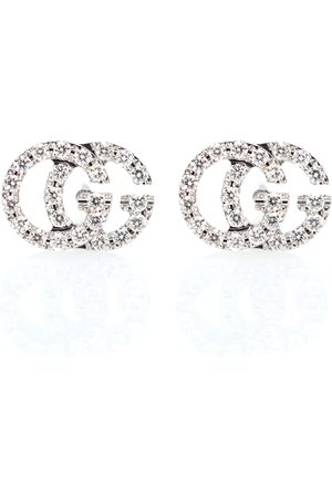 Gucci Running G 18kt gold and diamond earrings