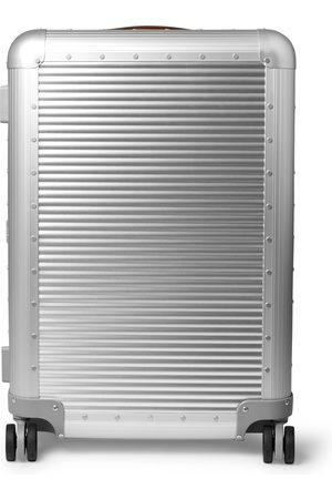 Fabbrica Pelletterie Spinner 68cm Leather-Trimmed Aluminium Suitcase