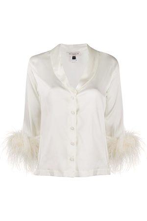 Gilda & Pearl Esme stretch-satin pyjama shirt