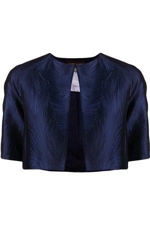 TALBOT RUNHOF Jacquard cropped jacket