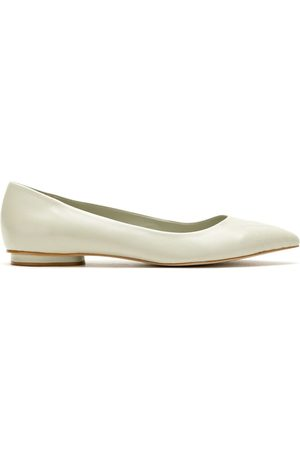 Sarah Chofakian Women Ballerinas - Greasy stitch detail flats