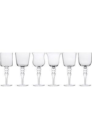 BITOSSI Sculpted wine glasses (set of 6)