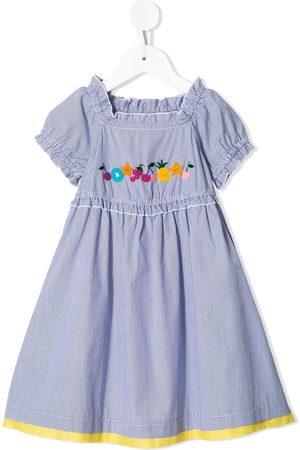 Familiar Fruit-patch flared dress