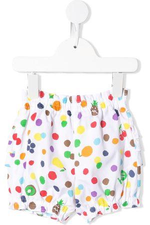Familiar Polka dot print casual trousers