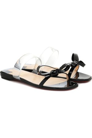 Christian Louboutin Just Nodo PVC-trimmed patent-leather sandals