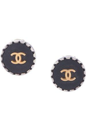 CHANEL 1996 scalloped edge CC earrings