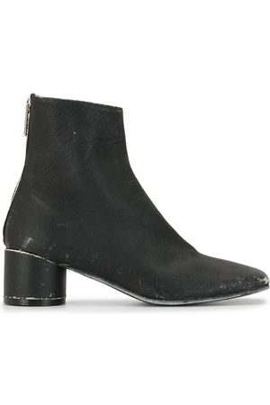 MM6 MAISON MARGIELA Distressed leather ankle boots