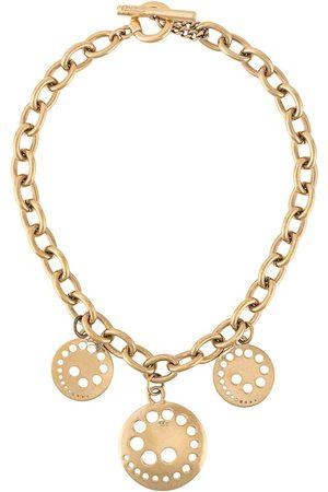 Paco rabanne 1980s laser-cut charm necklace