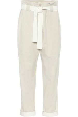 Brunello Cucinelli Stretch-cotton paperbag pants