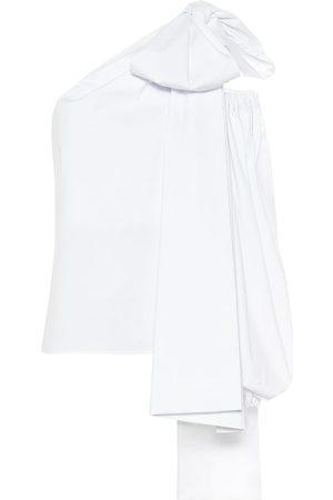 Bernadette Tom cotton-blend one-shoulder top