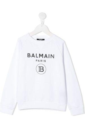 Balmain Cotton logo print sweatshirt